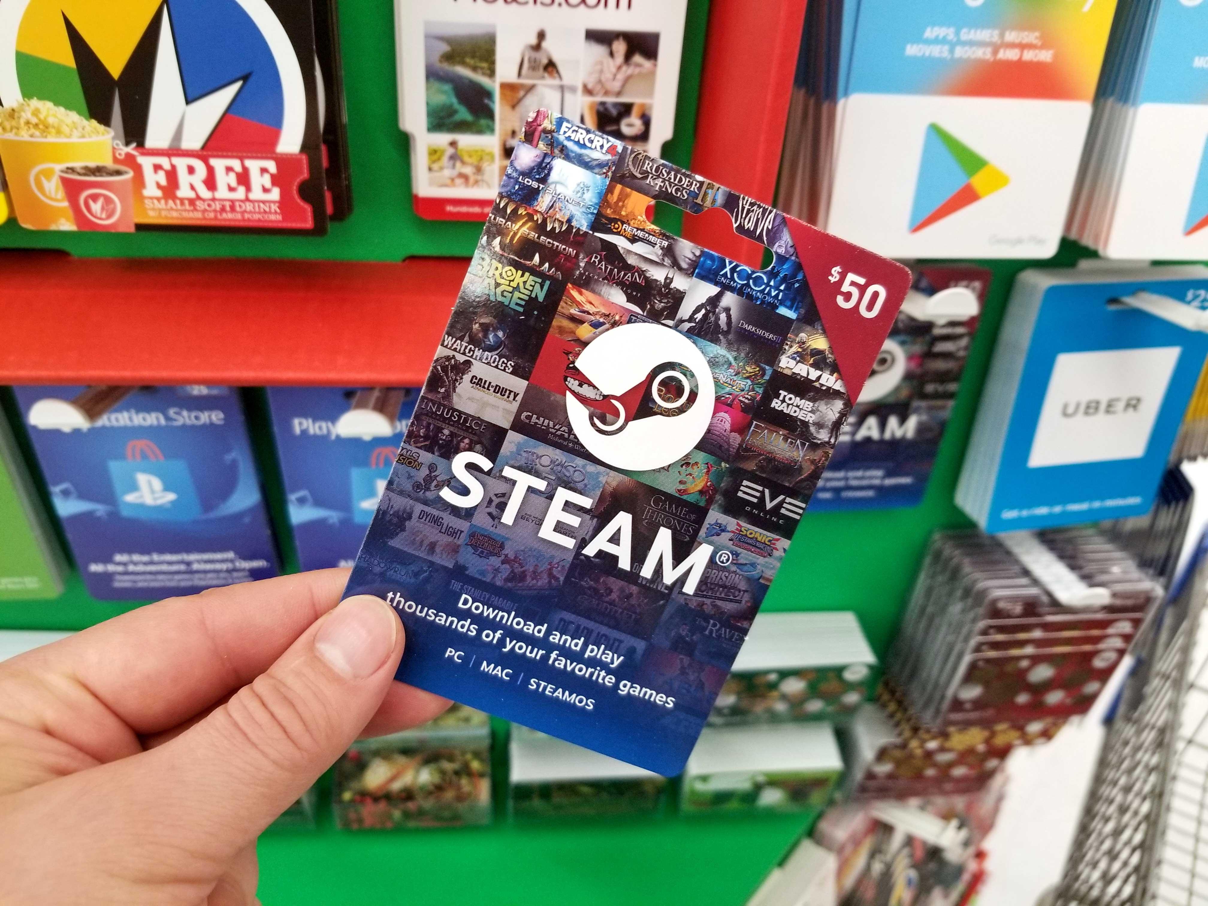 steam-gift-card, We Game All Night, wegameallnight.com